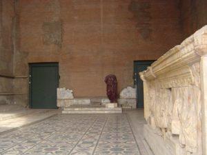 Ancient Roman Senate House Interior