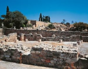 Ancient Roman Building Material Mosaic Decoration Marble